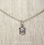 Little Turtle Necklace, Silver Turtle Jewelry