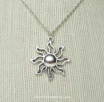 Sun Necklace - Everyday Silver Celestial Jewelry