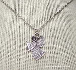 Praying Angel Necklace, Silver Angel Jewelry