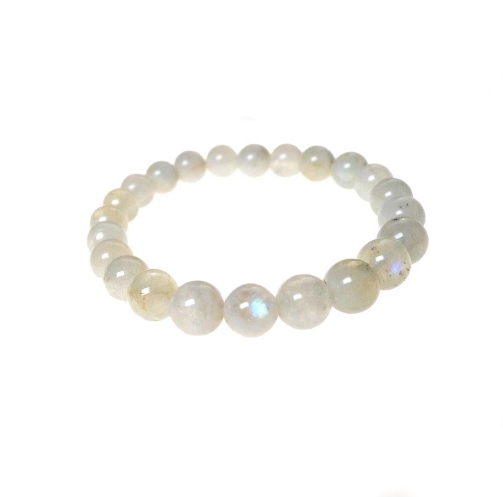 rainbow moonstone bracelet with tourmaline beaded stretch