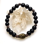 Buddha Bracelet with Black Onyx, Buddha Gemstone Bracelet