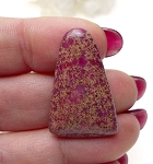 Pink Sea Sediment Jasper Cabochon, Cathedral Pyramid, 30x20mm Gemstone Cab