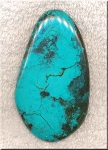 Turquoise Cab for Wire-Wrapping, Large Freeform Natural Turquoise Cabochon 72x42mm