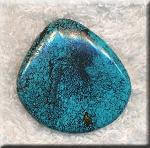 Natural Turquoise Cabochon, Freeform 32x32mm