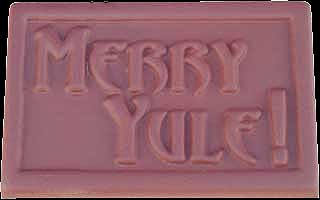 Merry Yule Chocolate Mold Pagan Candy Mold Silver