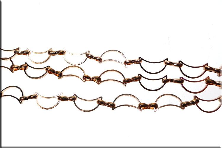 Copper Crescent Moon Chain