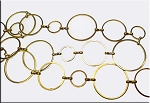 Gold Plated Circle Chain, 3 Circle Sizes