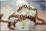 Antique Copper 5mm Flat Round Link Chain by the Foot