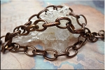 Antique Copper Patterned Oval Link Chain by the Foot,12.5x9mm