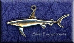 Sterling Silver Large Shark Pendant, Shark Jewelry