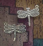 Sterling Silver 3D Dragonfly Charm, 23x20mm
