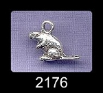 Sterling Silver Beaver Charms