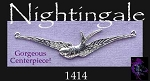 Sterling Silver Nightingale Necklace Centerpiece, Bird Jewelry Y Connector