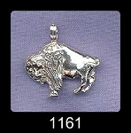 Sterling Silver Buffalo Charms