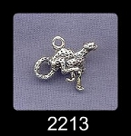 Sterling Silver Cheetah Charm, Wildcat Jewelry