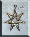 Sterling Silver Septagram 7 pointed Star with 6mm Gemstone Cab Area