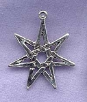 Sterling Silver Septagram Pendant, Fairy Star Jewelry
