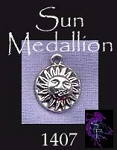 Sterling Silver Sun Medallion Charm, Sun Jewelry