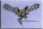 Sterling Silver Celtic Fairy Connector Y Necklace Centerpiece, CLOSEOUT