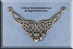 Sterling Silver Celtic Knot Claddaugh Y Necklace Component, Celtic Jewelry Supply