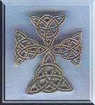 Sterling Silver Triquetra Celtic Cross Pendant - CLEARANCE