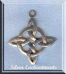 Sterling Silver Celtic Sun Knot Pendant, Celtic Jewelry