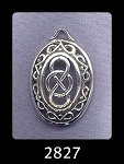 Sterling Silver Domed Fancy Border Celtic Infinity Pendant, Celtic Jewelry