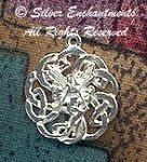 Sterling Silver Celtic Fairy Necklace, Celtic Love Knot Fairy Charm, Celtic Jewelry