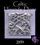 Sterling Silver Celtic Greyhounds Necklace Connector, Celtic Jewelry Finding - CLEARANCE