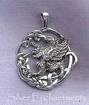 Sterling Silver Griffin Charms