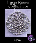 Sterling Silver Large Celtic Lace Knot Centerpiece Jewelry Connector, 1-1/2 inches - CLEARANCE