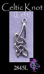Sterling Silver Celtic Necklace, 27x10mm Celtic Charm-Pendant Jewelry
