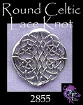Sterling Silver Celtic Lace Centerpiece, Celtic Jewelry Connector