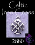 Sterling Silver Small Celtic Iron Cross Necklace, Iron Cross Charm, Celtic Jewelry
