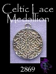 Sterling Silver Celtic Lace Sacred Geometry Medallion, Flower of Life Charm