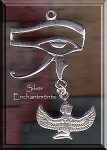 Sterling Silver Eye of Horus with Dangling Isis Pendant