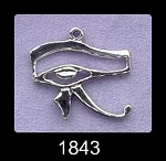 Sterling Silver Double-Sided Eye of Horus Pendant, Egyptian Jewelry