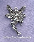Sterling Silver Fairy Jerwelry Connector, Fairy Jewelry Finding, 27x18mm