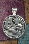 SOLDOUT - Sterling Silver Yin-Yang Dragon Necklace, Zen Dragon Pendant
