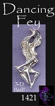 Sterling Silver Dancing Fairy Pendant, Fairy Jewelry
