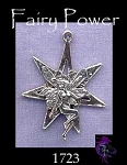 Sterling Silver Fairy on 7-pointed Fairy Star, Fairy Septagram Jewelry