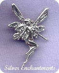 Sterling Silver Fairy Pendant with Hidden Bail, Fantasy Fairy Jewelry