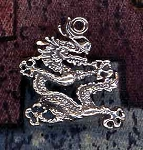 Sterling Silver Oriental Dragon Charm, Emperor Dragon Jewelry