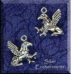 Sterling Silver 3D Gryphon
