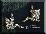 Sterling Silver 3D Seated Fairy Charm