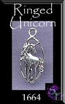Sterling Silver Ringed Unicorn Charm, Unicorn Necklace Jewelry