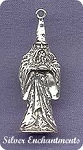 Sterling Silver Merlin Wizard Pendant, Wizard Jewelry