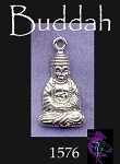 Sterling Silver Buddha Pendant, Buddhist Necklace