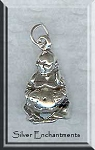 Sterling Silver 3D Buddha Charm, Buddha Necklace