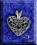 Sterling Silver Scroll Heart with Split Bail
